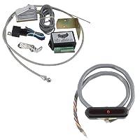 ロxcind-1721ブラックアルミニウムケーブルOperated水平LEDダッシュインジケータキット