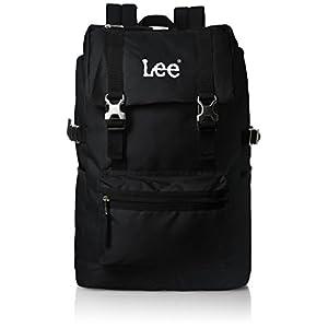 [リー] リュック 軽量 Leeロゴ刺繍 フラップ型 320-4800 01 ブラック