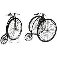 Blesiya 合金製 コレクション 1:10 ミニチュア ダイキャスト バイク サイクル 自転車 三輪車モデル 模型 2点