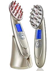 電動頭皮ブラシ 育毛 RF温熱 EMS 赤外線LED搭載 光エステ 薄毛対策 脱毛防止 音波振動磁気 多機能電動ヘアブラシ 発毛促進 頭皮マッサージ器 充電式