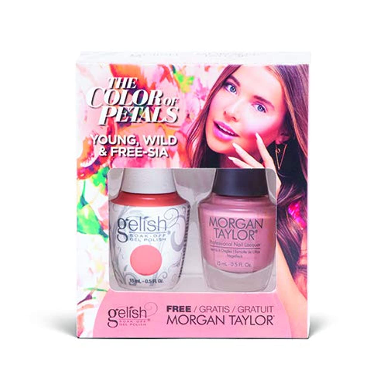 ゆりグッゲンハイム美術館硬さHarmony Gelish - Two Of A Kind - The Color Of Petals - Young, Wild & Free-sia - 15 mL / 0.5 Oz