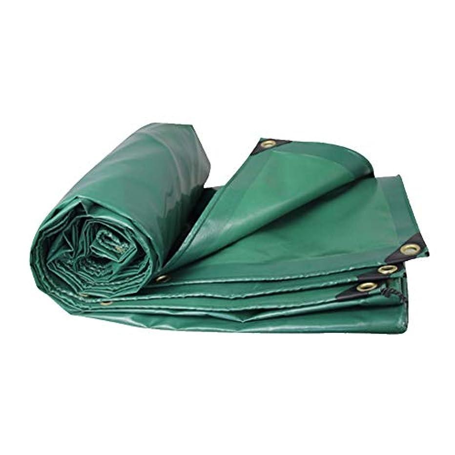 銀行不従順喜んでZX タープ ターポリン 増粘 防水 100%アンチUV コーティングされた、キャンプのために小屋、釣り、園芸、550グラム/平方メートル テント アウトドア (色 : 緑, サイズ さいず : 3x8M)
