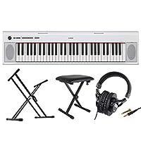 YAMAHA NP-12WH piaggero 61鍵盤 電子キーボード Dicon Audio X型スタンド ベンチ ヘッドホン 4点セット