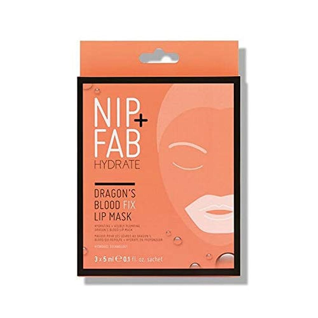 ブランド名噴火一貫した[Nip & Fab ] + Fabドラゴンの血修正リップマスク5ミリリットルニップ - NIP+FAB Dragons Blood Fix lip Mask 5ml [並行輸入品]