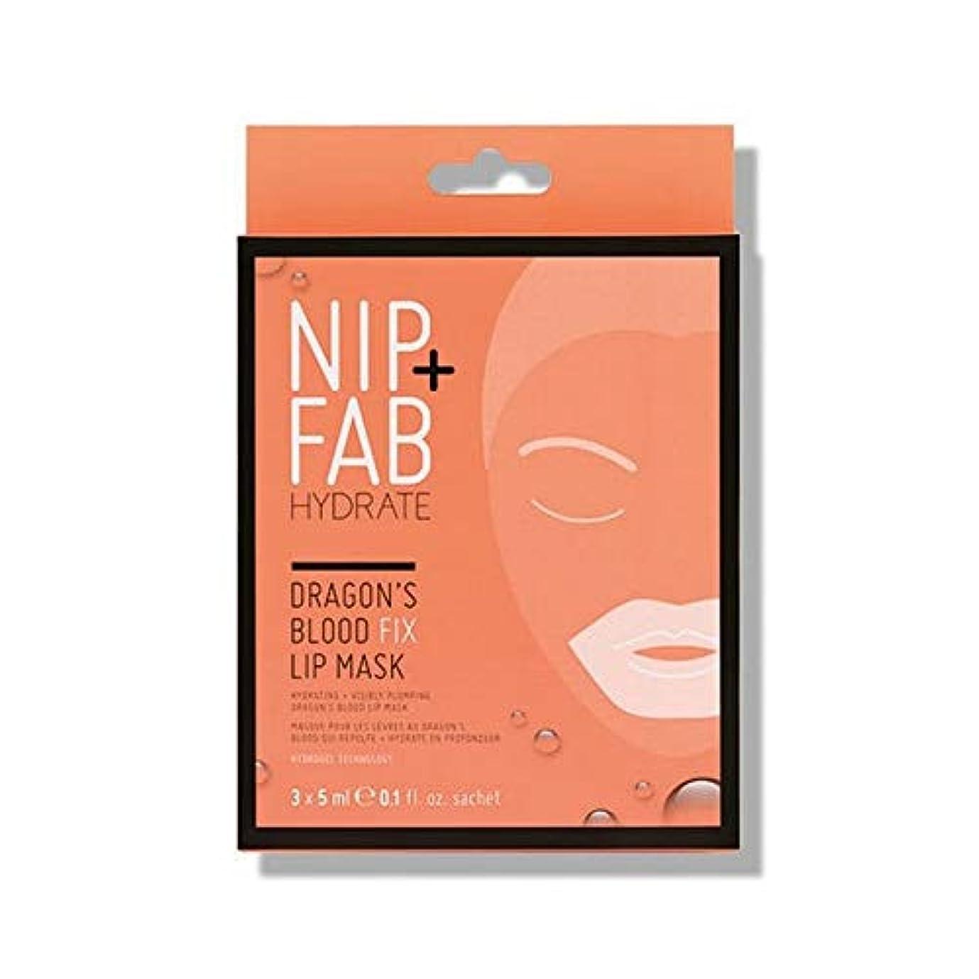 によると司書無意味[Nip & Fab ] + Fabドラゴンの血修正リップマスク5ミリリットルニップ - NIP+FAB Dragons Blood Fix lip Mask 5ml [並行輸入品]