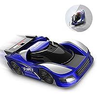 DEERC ラジコンカー こども向け 壁を走る 車 おもちゃ 室内 壁・天井・床 激走カー 赤外線コントロール プレゼント 贈り物 DE31(青赤) (青)