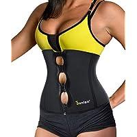 Junlan Women Weight Loss Waist Trimmer Trainer Belt Sauna Neoprene Workout Corset Body Shaper Tummy Ab Cincher Shapewear