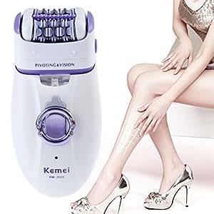 胸元のビキニの脚のための1 2女性の毛のリムーバー電気毛のトリマーレディー除去脱毛器女性のボディケアシェーバー