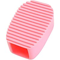 Keepjoy シリコン 洗濯ブラシ ハンドヘルド洗濯板 襟 袖 汚れ 洗濯板 ミニ (ピンク)