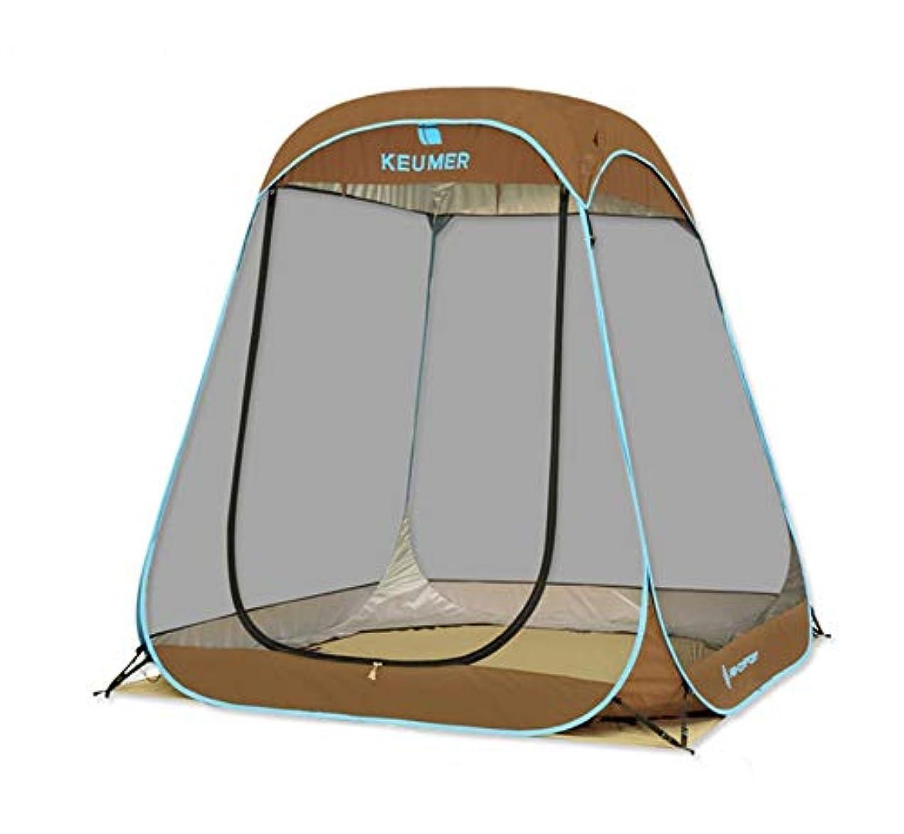 噴火東部タンカーKEUMER ポップアップテント 全面メッシュ 通気性抜群 UVカット 200*200*190cm 4-6人用 公園 キャンプ ビーチ お釣り用 レジャーテント