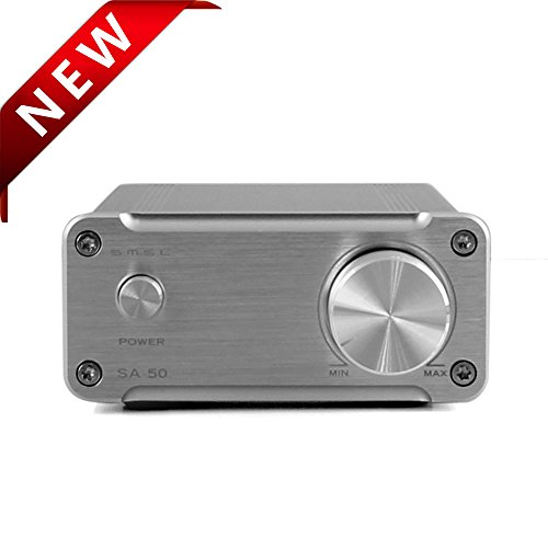 SMSL SA-50 デジタルアンプ 50Wx2 T-AMP 高品質HIFI (銀)
