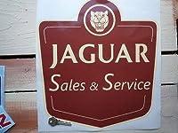 Jaguar Sales & Service Sticker ジャガー ステッカー シール デカール 330mm x 355mm [並行輸入品]