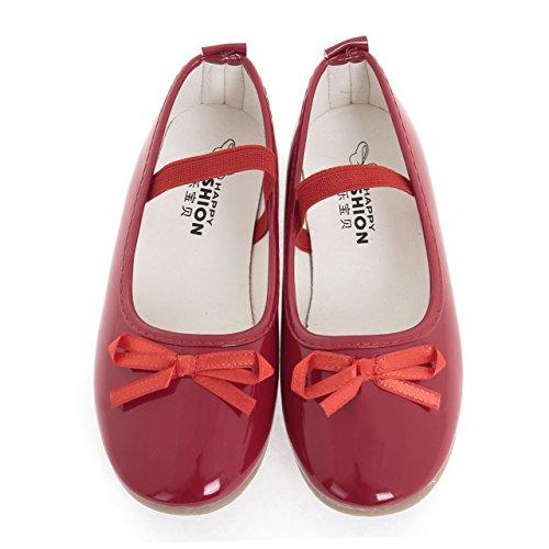(IN MOOD) キッズ フォーマル 靴 軽量 滑り止め加工 靴ずれ防止 ネックレス ブレス の3点セット A-238 (22/13.5cm, レッド)