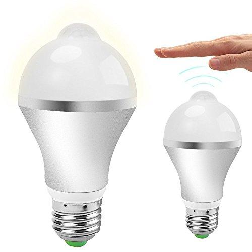 QPAU 室内 人感 センサーライト 夜灯 E26 7W 昼白色