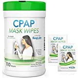 RespLabs CPAP Mask Cleaner Wipes - 90 Pack, The Original Unscented Cleaning & Sanitizer for Masks, Machine, Hose Kit | Includes Travel Wipe +3 eBooks