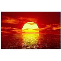 レモンツリーART ポスター 日の出 朝霞 海から登ってくる太陽 自然風景 夜明け インテリア装飾品 壁飾り 壁掛け絵画 部屋飾り、新築お祝いに最適(60x40cmx1枚)