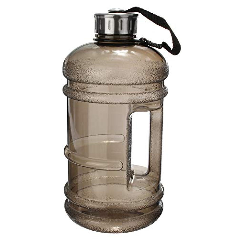 石の本質的ではない合理的DeeploveUU 2.2LポータブルPETG大容量ウォーターボトルトレーニングスポーツトレーニングドリンクボトル