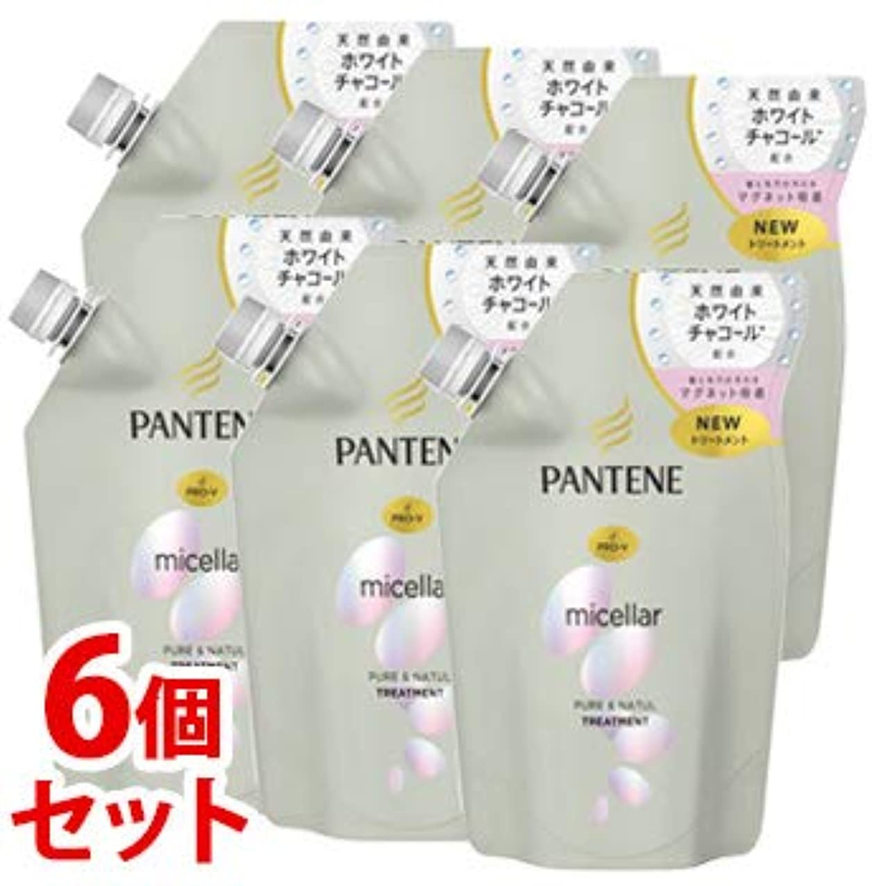《セット販売》 P&G パンテーン ミセラーシリーズ ピュア&ナチュル トリートメント つめかえ用 (350g)×6個セット 詰め替え用 ミセラー