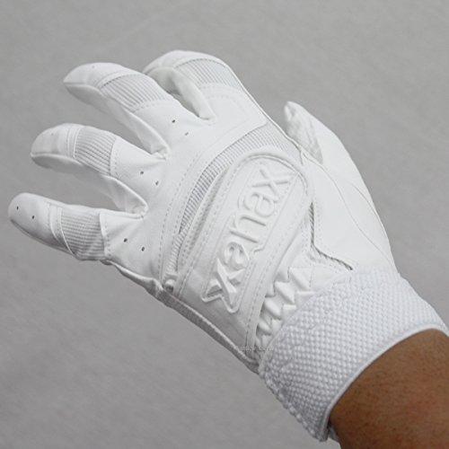 ザナックス クロス ダブルベルト バッティング手袋 両手用 一部高校野球対応 BBG-81 0101(高校対応) 両手用M(24-25cm)