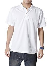ティーシャツドットエスティー ポロシャツ ドライ 半袖 無地 UVカット 4.4oz メンズ …