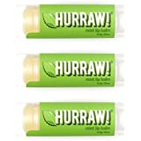 HURRAW Mint (3 Pack) Lip Balm: Organic, Certified Vegan, Certified Cruelty Free, Non-GMO, Gluten Free, All Natural - Luxury Lip Balm Made in the USA - MINT (3 Pack)