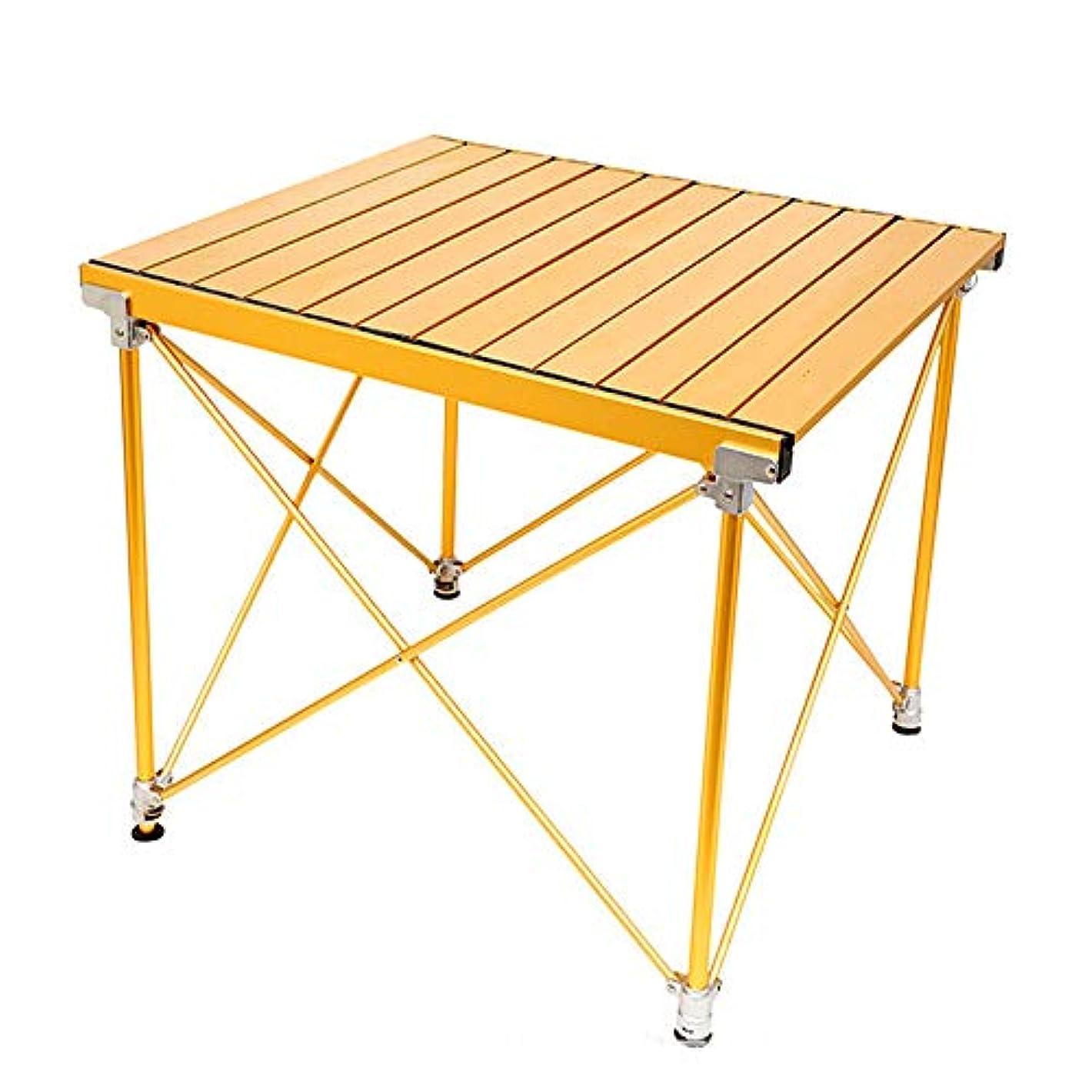 バンドチーフ岩折りたたみテーブル - ポータブルカジュアルピクニックテーブル超厚い屋外アルミテーブル