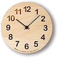 KATOMOKU Dual use clock 置き掛け兼用時計 スイープ(連続秒針) km-47 φ175mm