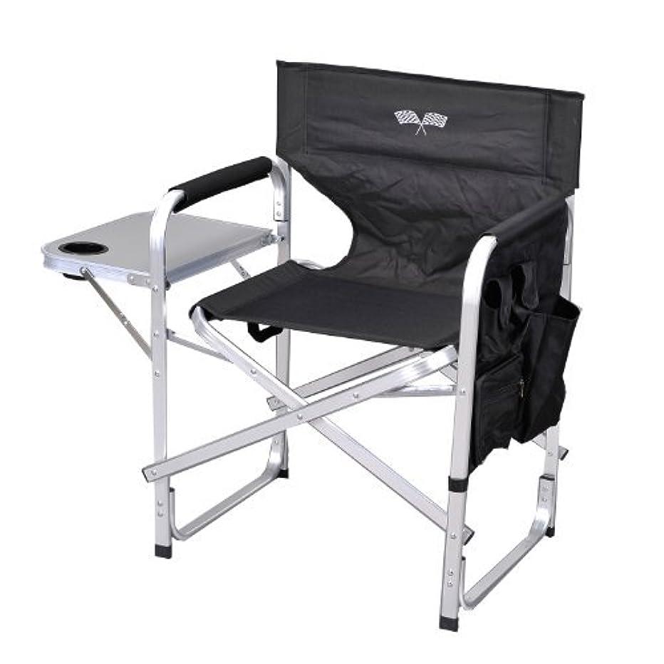 戸棚子孫渇きStylish Camping SL1204BLACK/FLAG Full Back Folding Director's Chair [並行輸入品]
