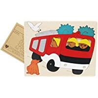 Yingealy 知的発達 クリエイティブ 木製 3D 教育パズル 早期教育 数字の形 カラー 動物玩具 子供への素晴らしい贈り物 (トラック)