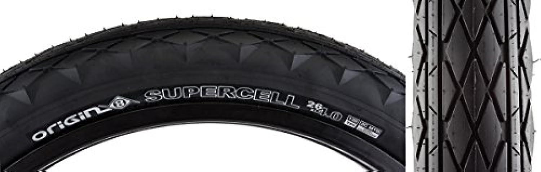 Origin8 Supercell Folding Bead Fat Bike Tires, 26 x 4.0, Black/Black by Origin8