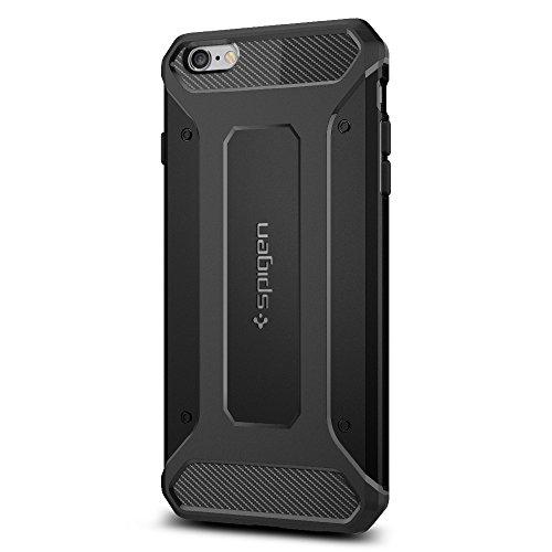Spigen iPhone6s Plus ケース / iPhone6 Plus ケース, カプセル ウルトラ・ラギッド [ 米軍MIL規格取得 落下 衝撃 吸収 ] アイフォン6s プラス / 6 プラス 用 耐衝撃カバー (ブラック SGP11643)