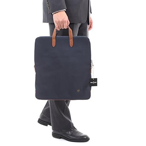【TWINECT】 メンズ 縦型 トートバッグ ビジネスリュック 大人のランドセル + プレゼント用TWINECT収納袋セット (藍色)