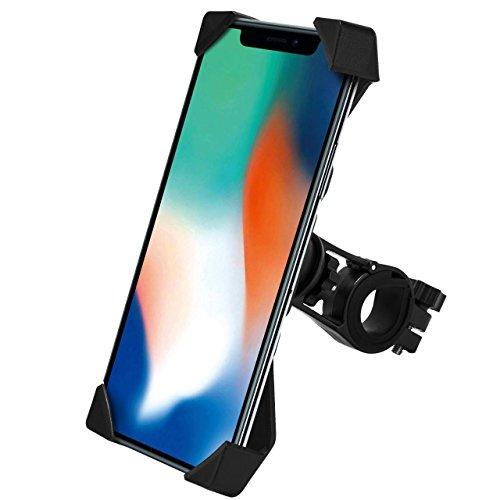 ELVNOVA 自転車ホルダー バイクスマホホルダー GPSナビ スマホ固定用マウント 360度回転 スマホ iPhone固定用 脱落防止 Andriod/iPhoneに多機種対応