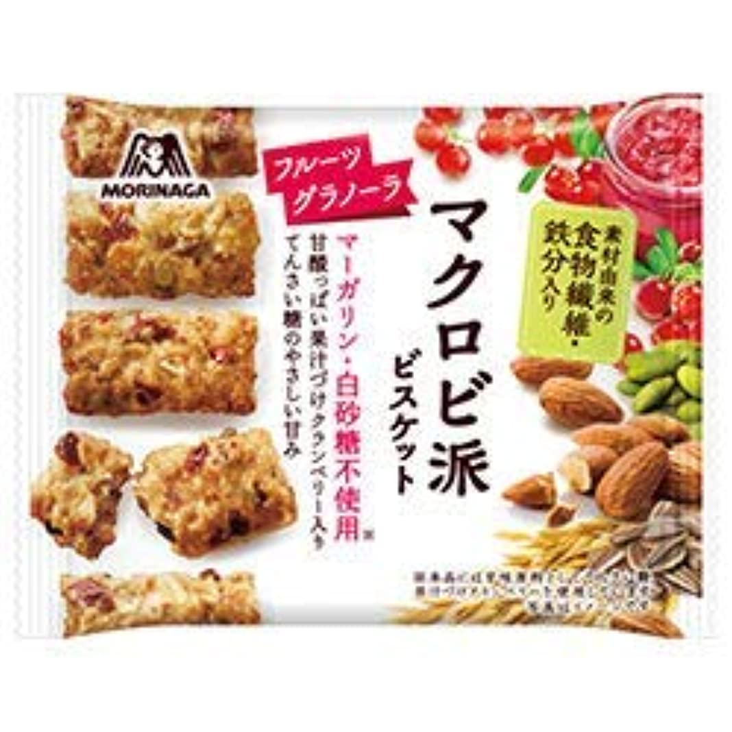 シロナガスクジラ子豚正午森永製菓 マクロビ派ビスケット フルーツグラノーラ 48個セット