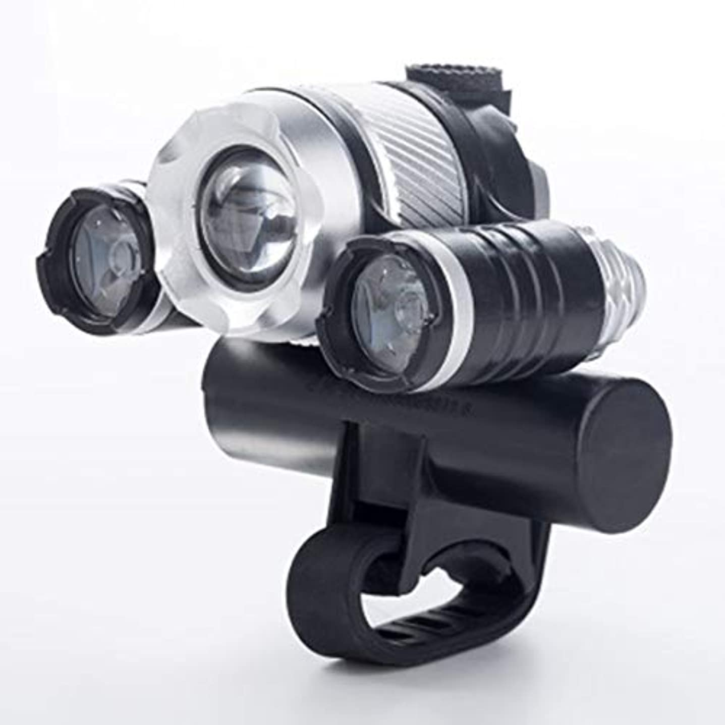 銃ラッカス減らすKongqiabona T6 LEDサイクリングランプUSB充電式自転車フロントライト自転車ヘッドライトバイシクルハンドルバーランプバイクパーツ