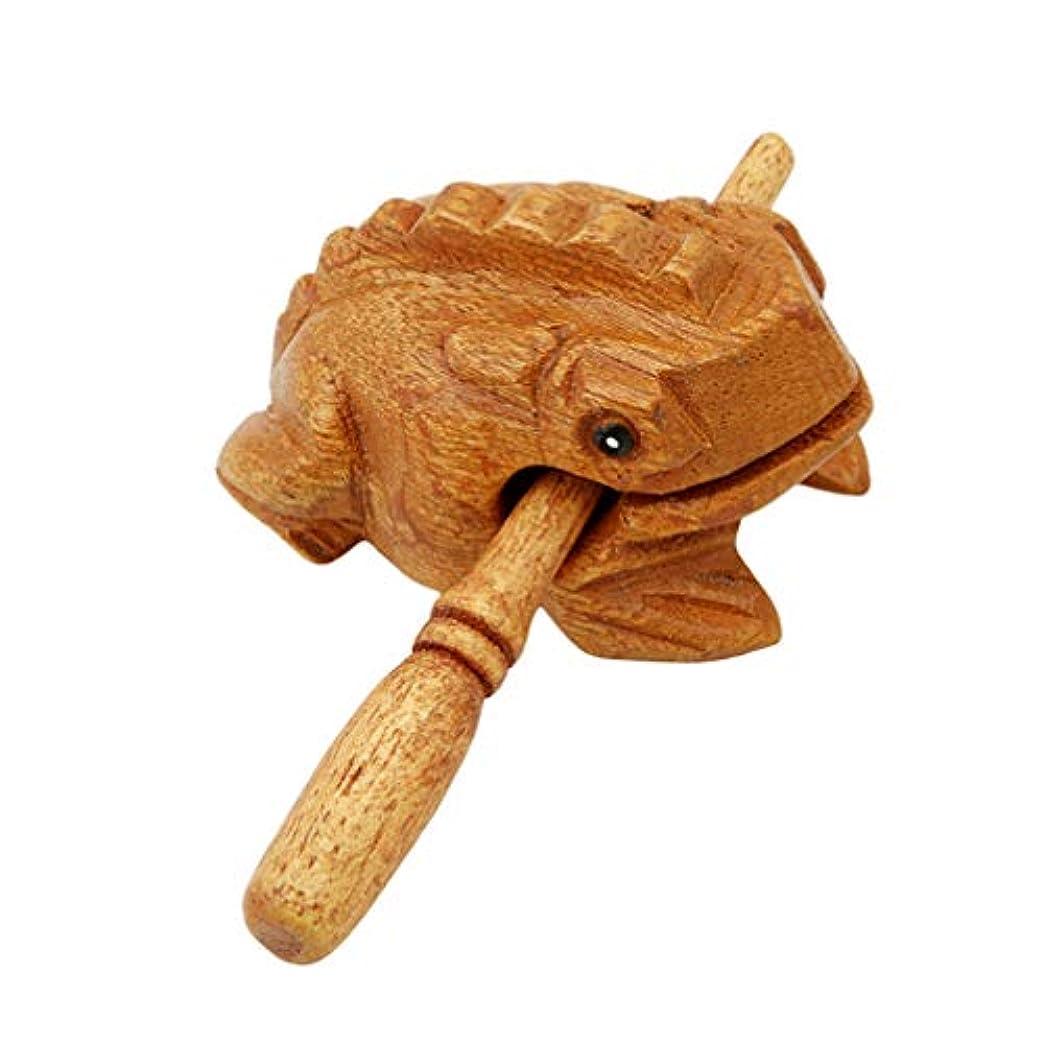 注釈ライトニングToporchid 木製カエル減圧おもちゃホームオフィスパーカッションアート置物木製ブロック
