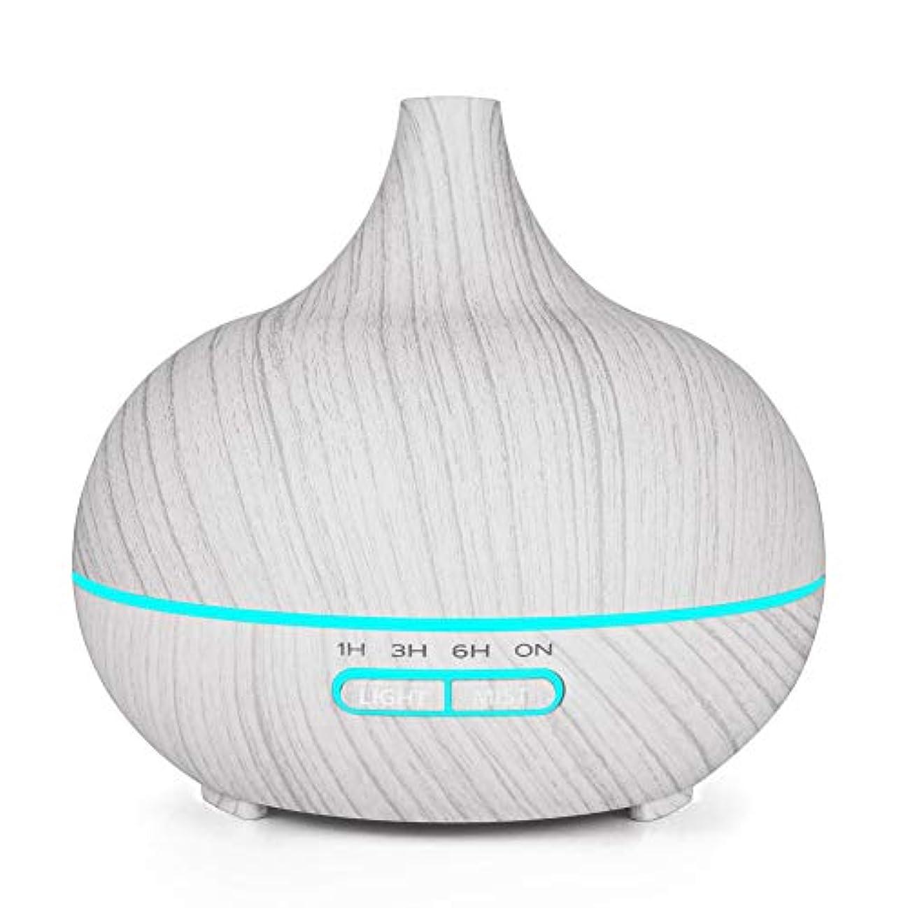 ミュート柔らかさほぼ木目 涼しい霧 加湿器,7 色 空気を浄化 加湿機 時間 手動 香り 精油 ディフューザー アロマネブライザー Yoga ベッド- 400ml