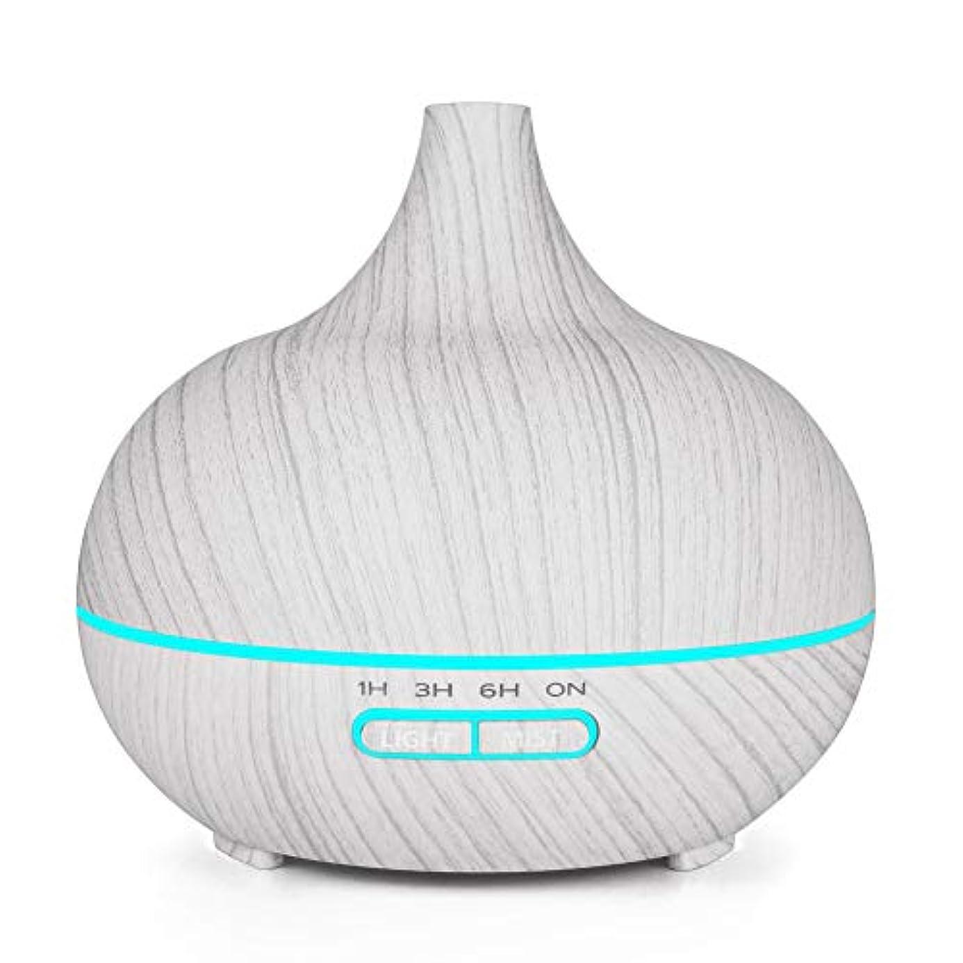 発生構造的建築家木目 涼しい霧 加湿器,7 色 空気を浄化 加湿機 時間 手動 香り 精油 ディフューザー アロマネブライザー Yoga ベッド- 400ml