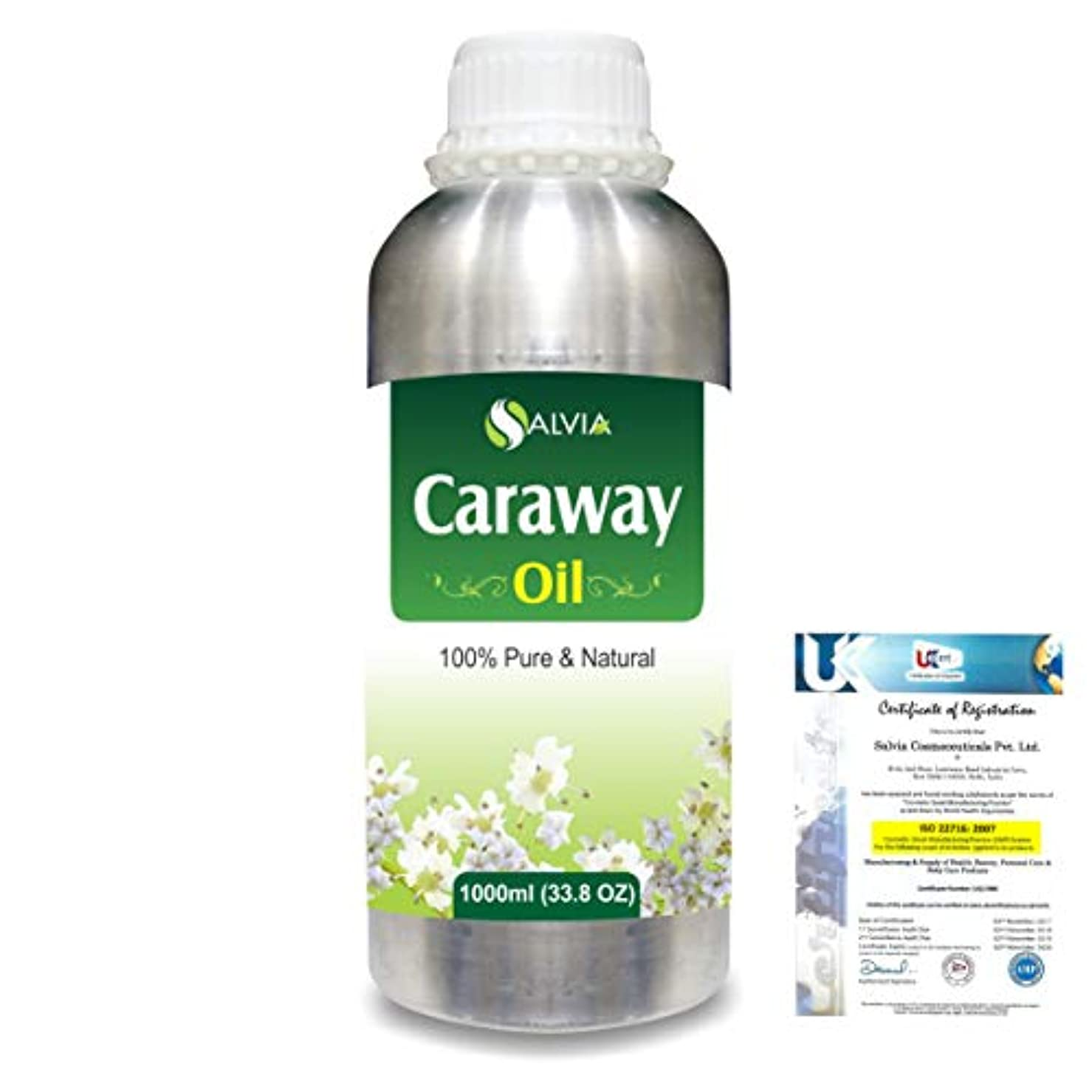 アカデミックあたたかい初期Caraway (Carum carvi) 100% Natural Pure Essential Oil 1000ml/33.8fl.oz.