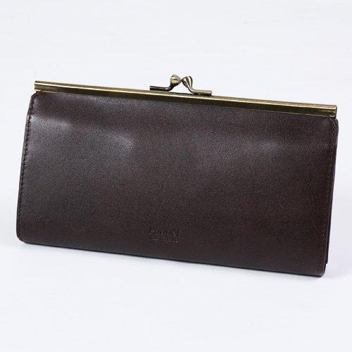 5265b5de766f (ホークカンパニー)HAWK COMPANY 財布 長財布 がまぐち がま口レザーウォレット F チョコの