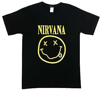 ニルヴァーナ/スマイル/カート・コバーン/NIRVANA/Tシャツ/ロックTシャツ/バンドTシャツ (XS)
