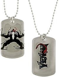 Marvel Comics Venom AngryスパイダーマンSuper Villain犬タグネックレス4126