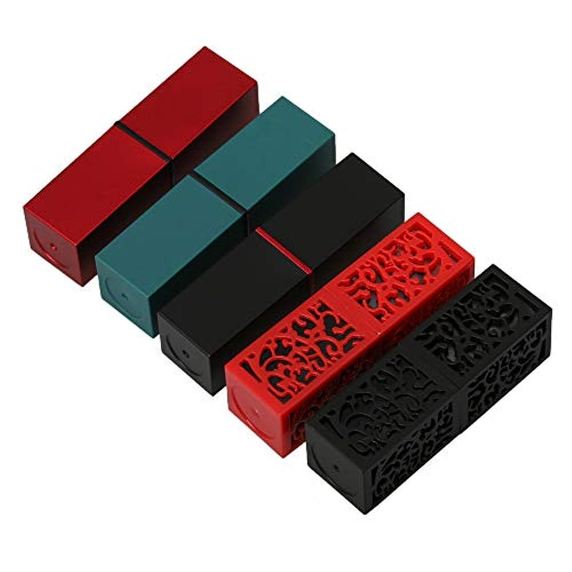サンダース裕福な操作Kaittyoffice 5件入 口紅チューブ DIY 口紅空容器 自作口紅型 5タイプ プラスチック製 7.4x2.3x2.3cm