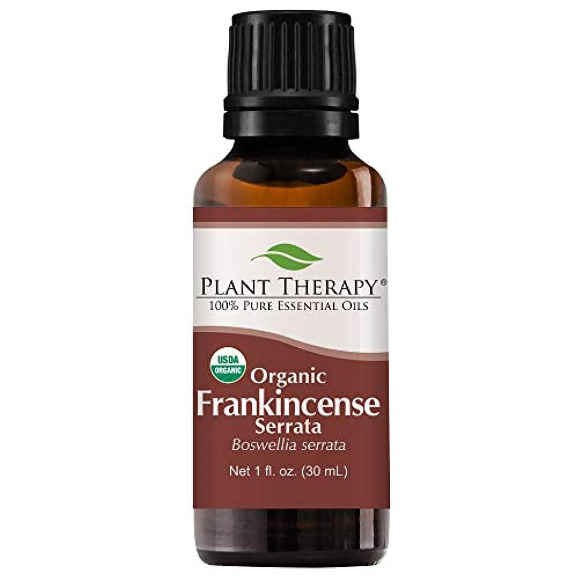 ウィザード小康違反する植物セラピーUSDA認定オーガニックフランキンセンスコナラエッセンシャルオイル。 30ミリリットル(1オンス)100%純粋な、希釈していない、治療グレード。