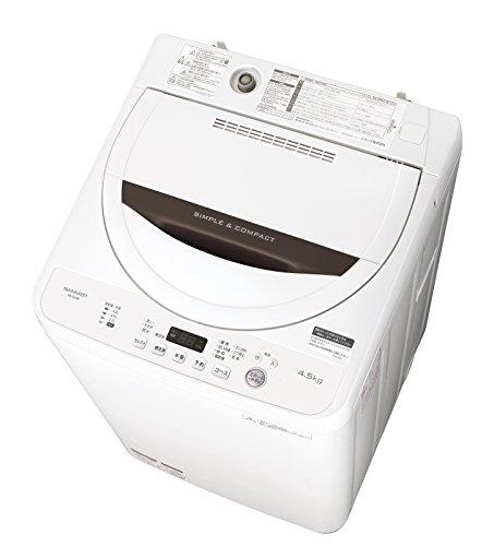 シャープ 全自動洗濯機 ステンレス槽 4.5kg ホワイト系...