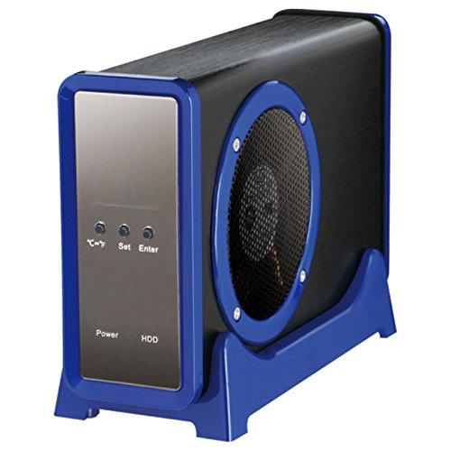 センチュリー 三代目冷やし系HDD検温番 SATA6G ブルー 温度表示付きLCD & 大型8cmFAN 搭載 CLS35EU3BLF6G