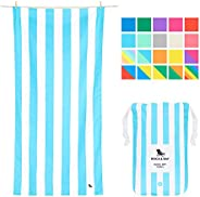 Quick Dry Beach Towels Pastel - Tulum Blue, Large (160x80cm, 63x31) - Quick Dry Towel for Swimming, Pastel Bea
