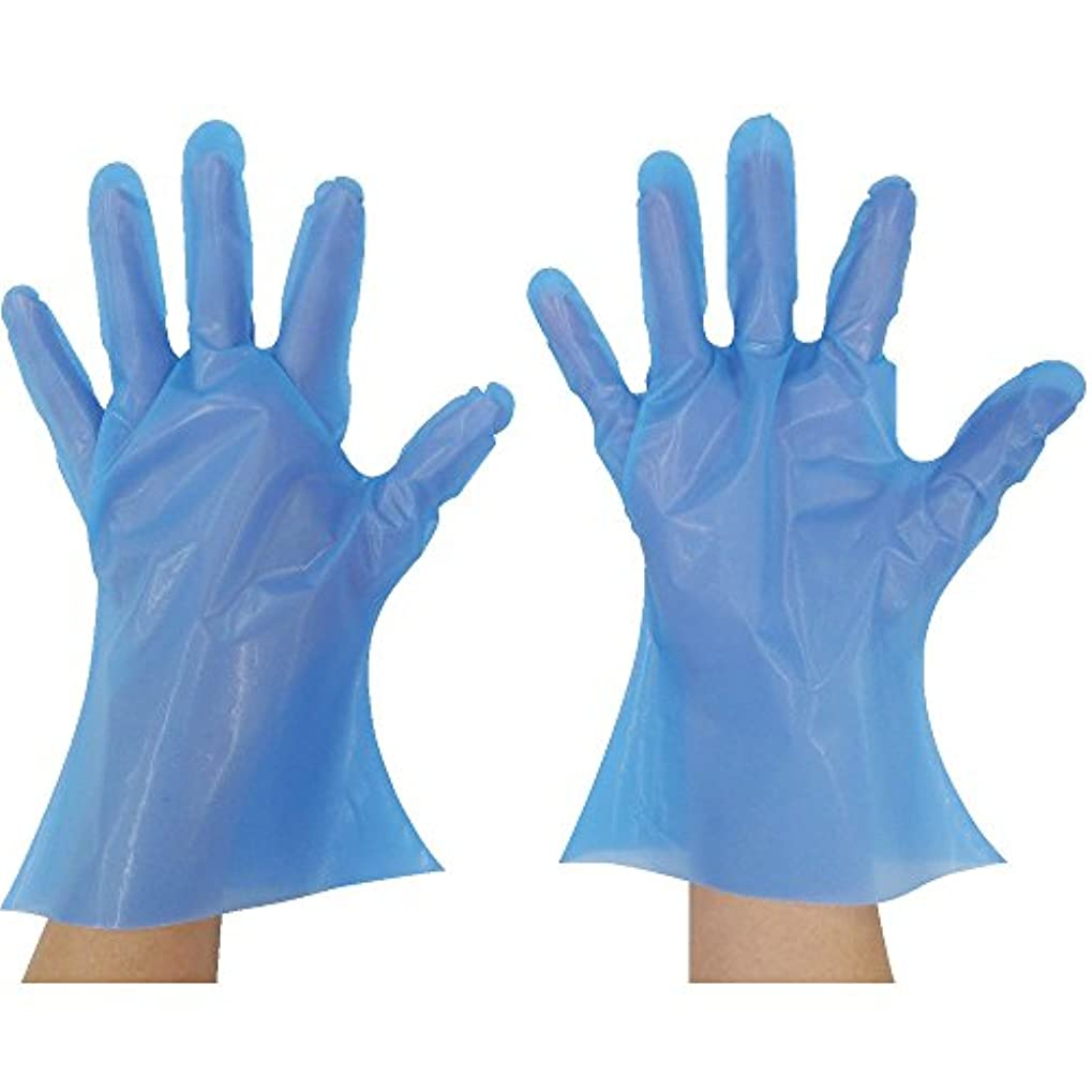 東京パック マイジャストニトポリグローブ ML ブルー NP-ML ポリエチレン使い捨て手袋