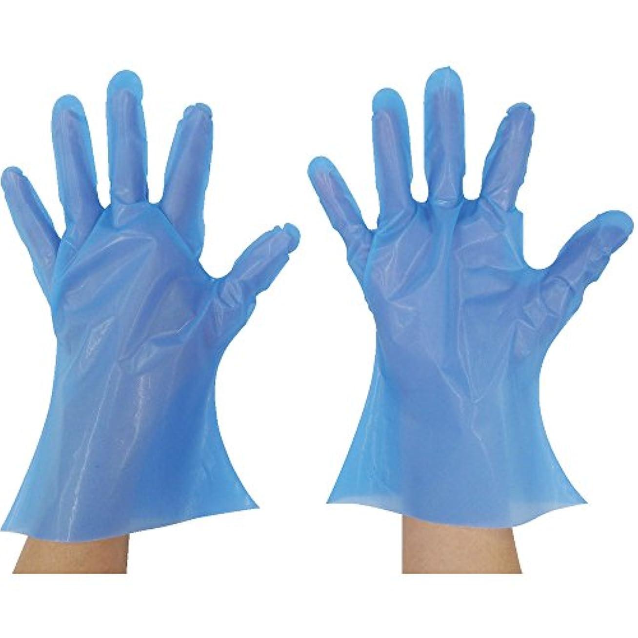 白菜管理ウール東京パック マイジャストニトポリグローブ MS ブルー NP-MS ポリエチレン使い捨て手袋