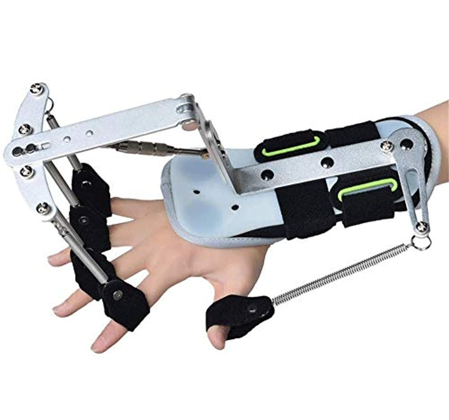 百配管放送手首OrthoticsAdjustableフィンガー、フィンガートレーナーハンドリハビリトレーニング指装具脳卒中片麻痺患者のあこがれ演習修復のため
